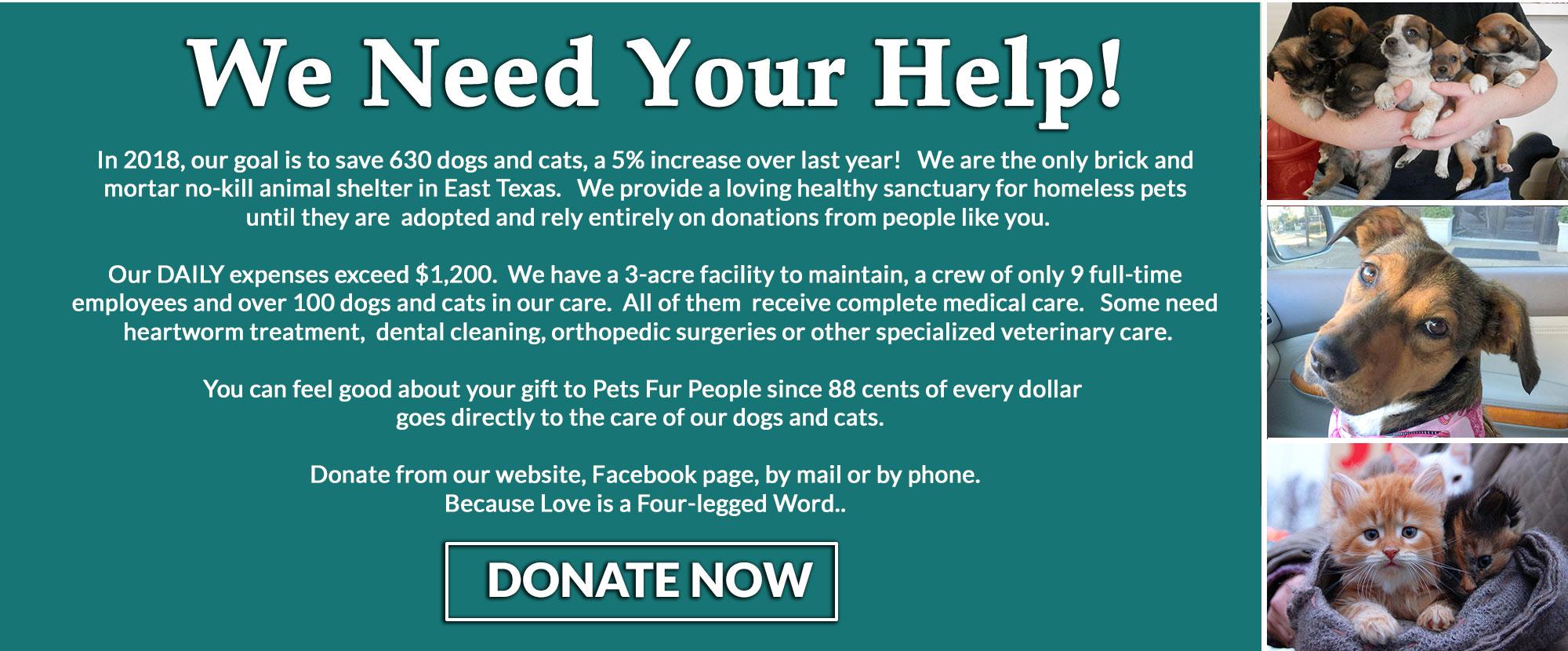 The Humane Society S Pets Fur People East Texas No Kill
